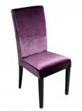 Καρέκλα μωβ βελούδο