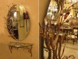 Καθρέφτης με κονσόλα Μπιζού